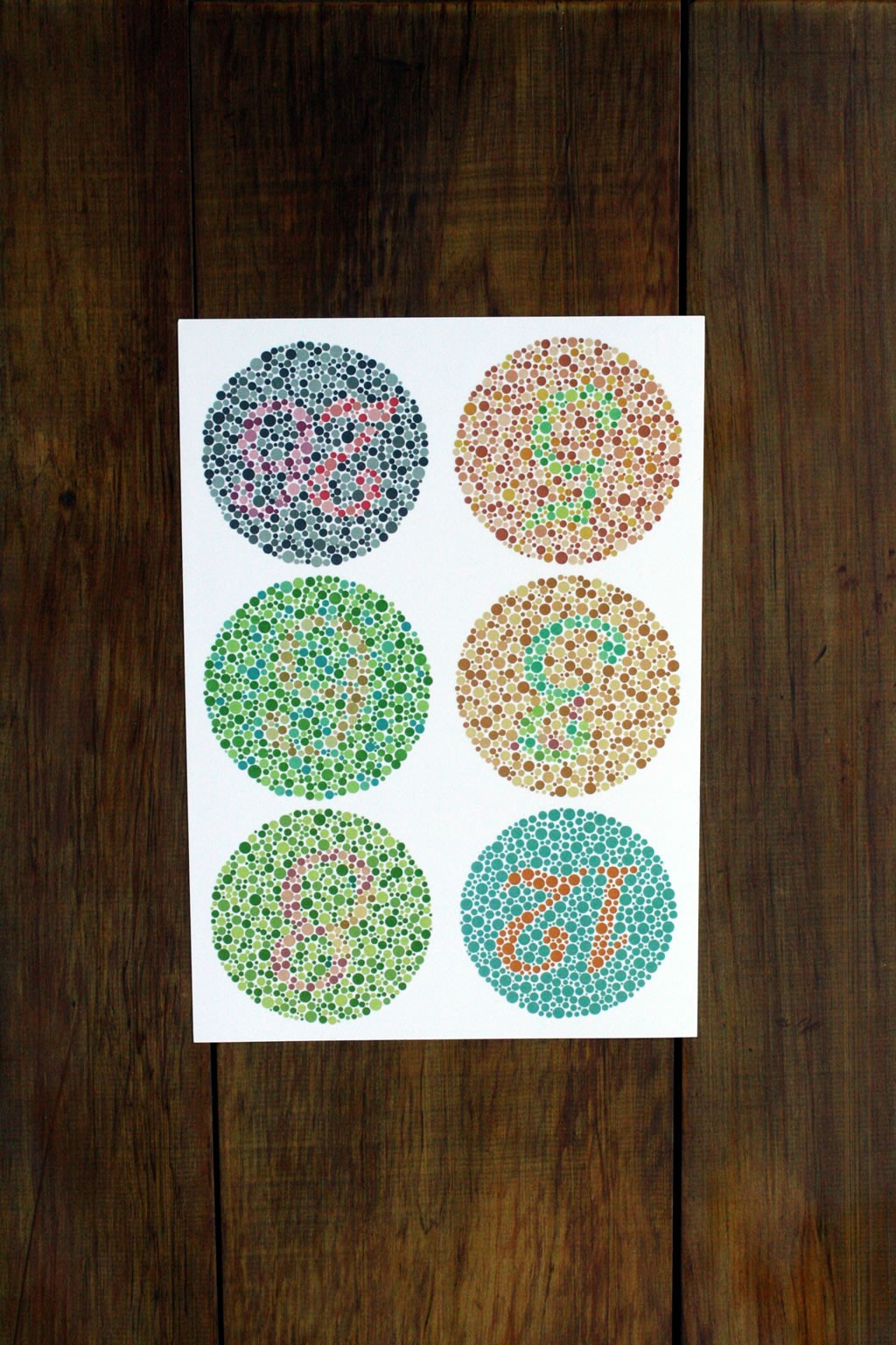 Colour Vision Color Blindness Test Ishihara Eye Charts